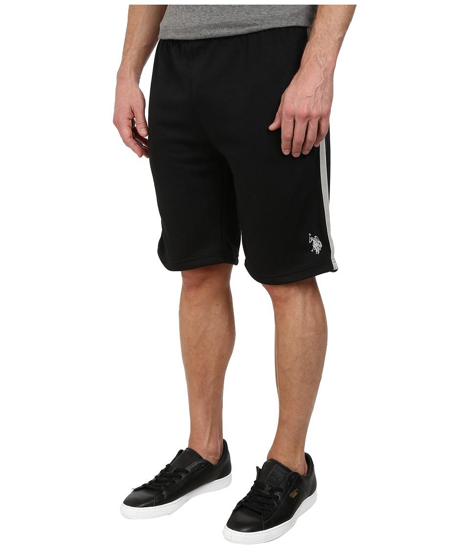 U.S. POLO ASSN. - Fleece Shorts with Side Stripe (Black) Men's Shorts