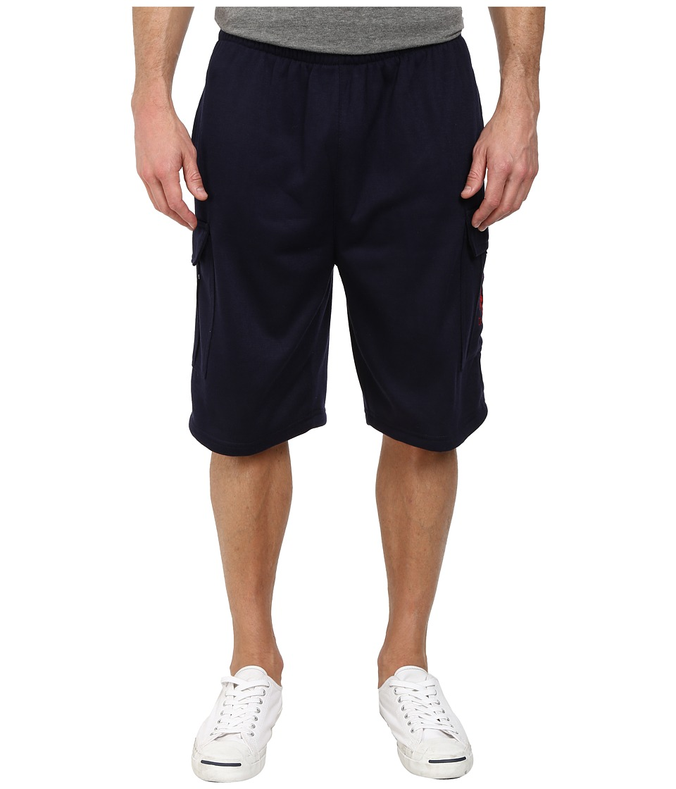 U.S. POLO ASSN. - Fleece Cargo Shorts (Classic Navy) Men's Shorts