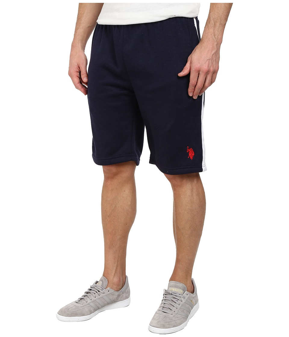 U.S. POLO ASSN. - Fleece Shorts with Side Stripe (Classic Navy) Men's Shorts