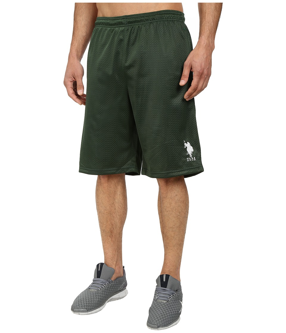 U.S. POLO ASSN. Mesh Athletic Shorts (Winter Pine) Men