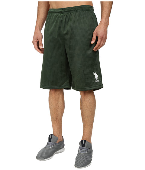 U.S. POLO ASSN. - Mesh Athletic Shorts (Winter Pine) Men