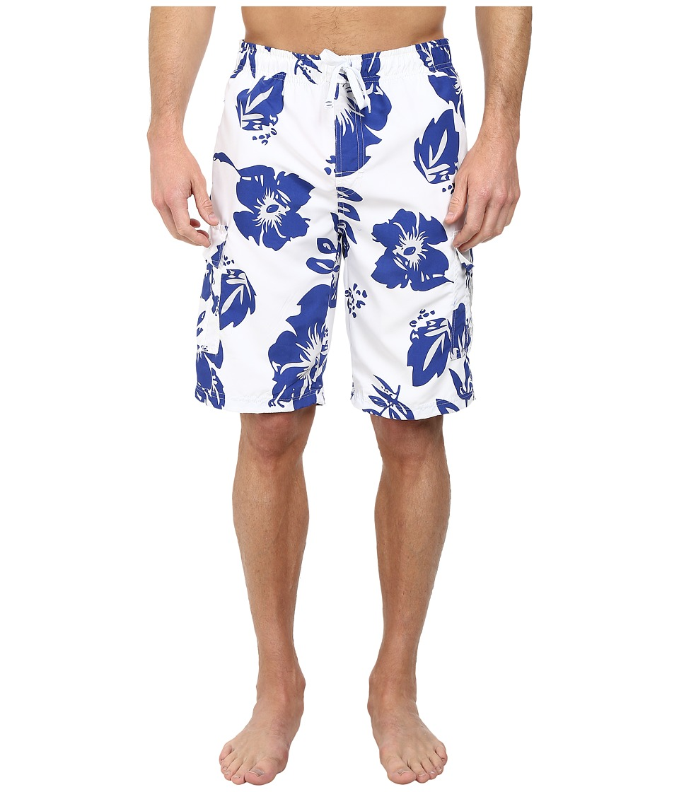 U.S. POLO ASSN. - Metallic Flower Boardshorts (Cobalt Blue) Men's Swimwear