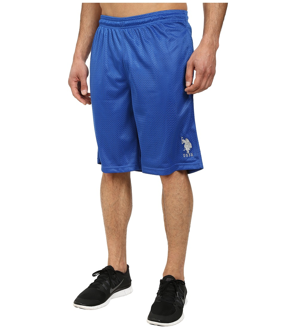 U.S. POLO ASSN. Mesh Athletic Shorts (China Blue) Men