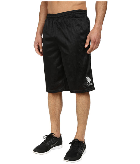 U.S. POLO ASSN. - Mesh Athletic Shorts (Black) Men's Shorts