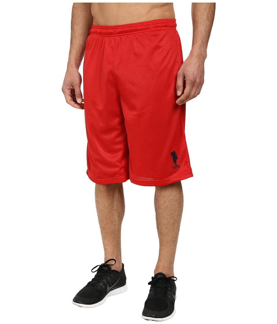 U.S. POLO ASSN. Mesh Athletic Shorts (Engine Red) Men