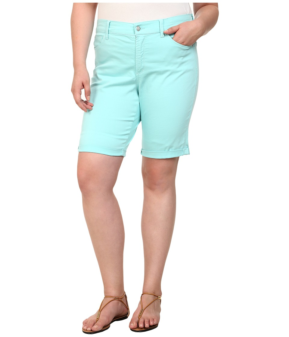 NYDJ Plus Size - Plus Size Briella Shorts (Aqua Splash) Women