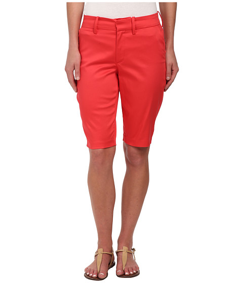 NYDJ - Justina Shorts - Sateen (Hot Coral) Women's Shorts