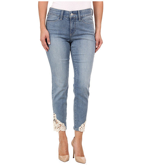 NYDJ Petite - Petite Clarissa Skinny Ankle - SS Lace Insert in Palos Verd (Palos Verd) Women