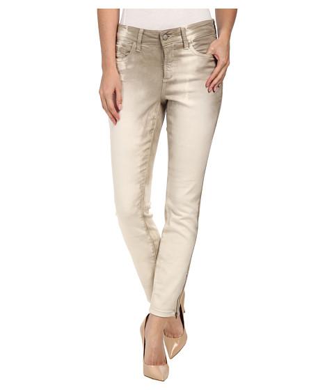 NYDJ - Kimora Skinny Ankle - Stripe Tye Dye (Stone) Women's Jeans