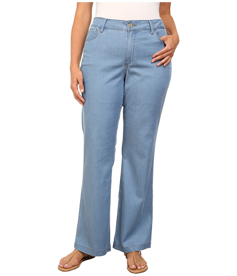 NYDJ Plus Size - Plus Size Wylie Trouser - Chambray (Norway) Women's Casual Pants