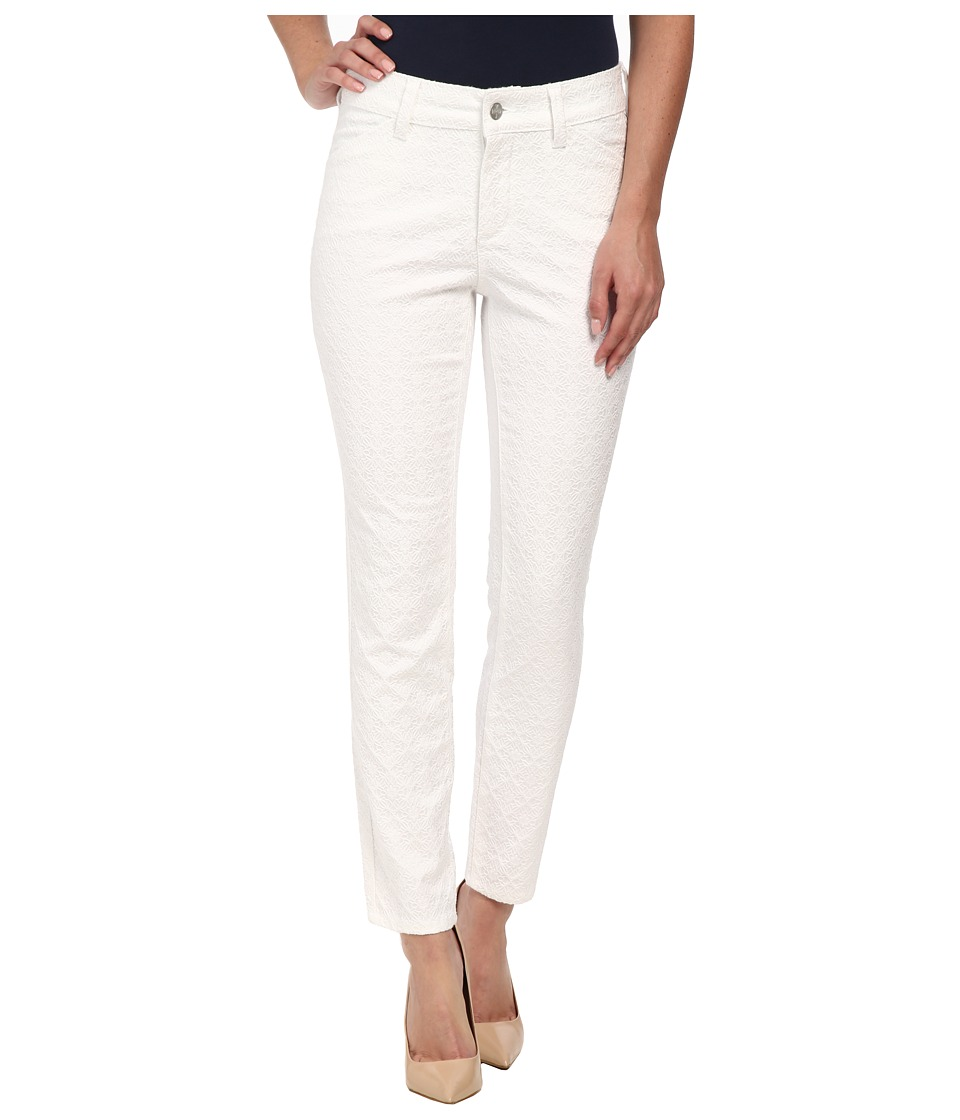 NYDJ - Clarissa Skinny Ankle - Jacquard (Optic White) Women's Jeans