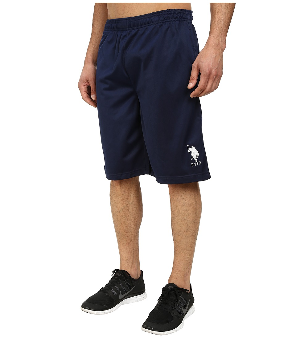 U.S. POLO ASSN. - Solid Tricot Athletic Shorts (Classic Navy) Men's Shorts