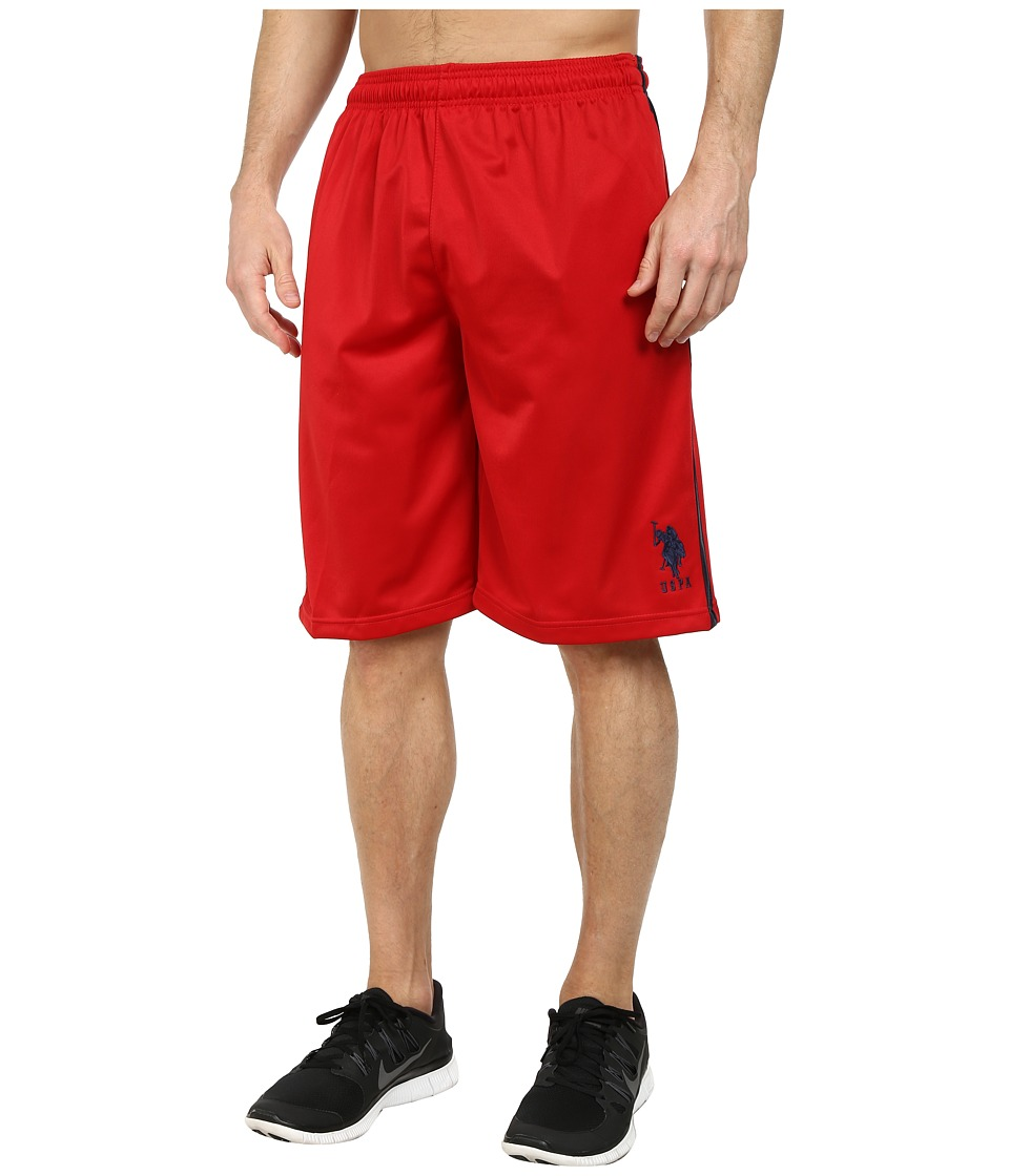 U.S. POLO ASSN. Tricot Athletic Shorts (Engine Red) Men