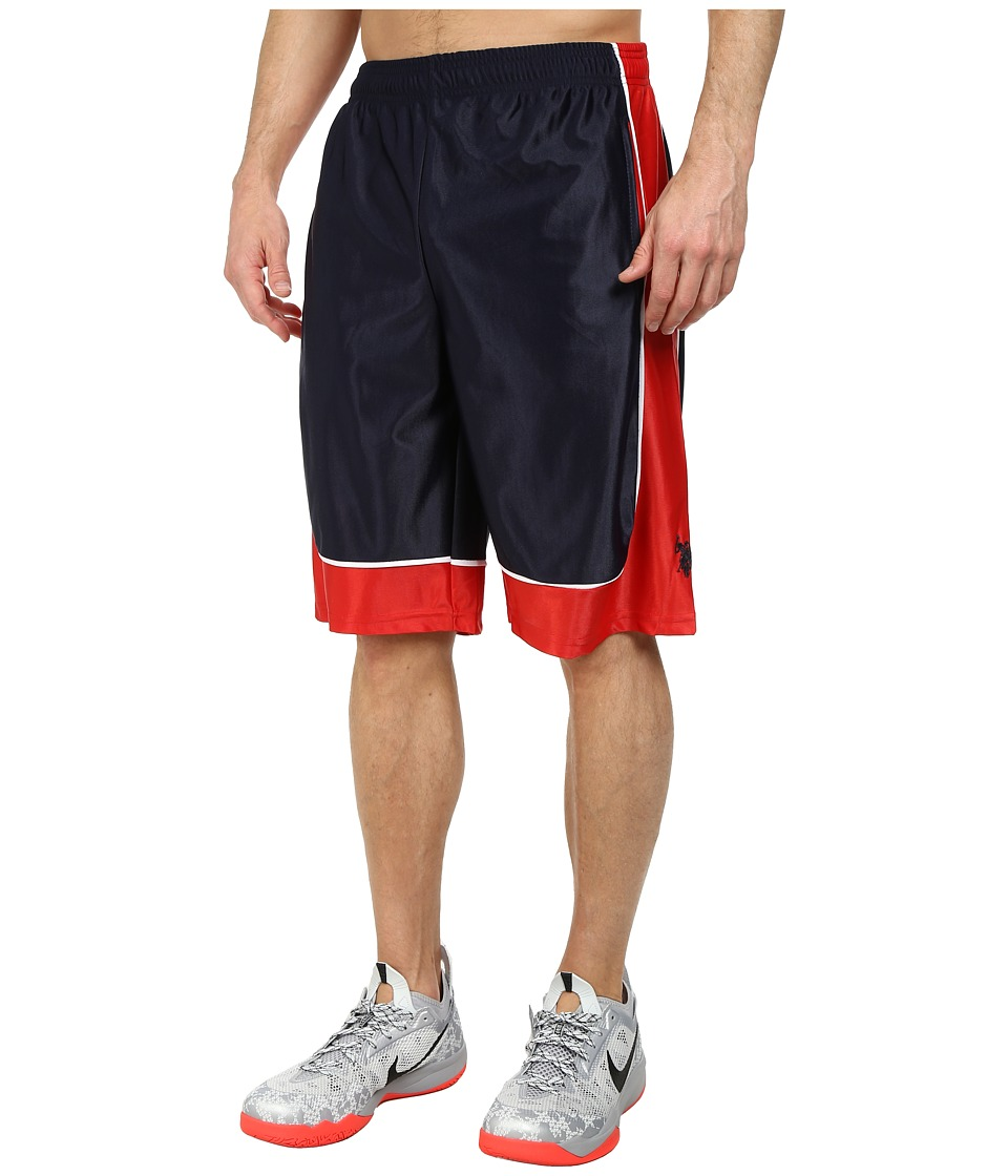 U.S. POLO ASSN. - Athletic Shorts with Dazzle Side Panel (Classic Navy) Men's Shorts