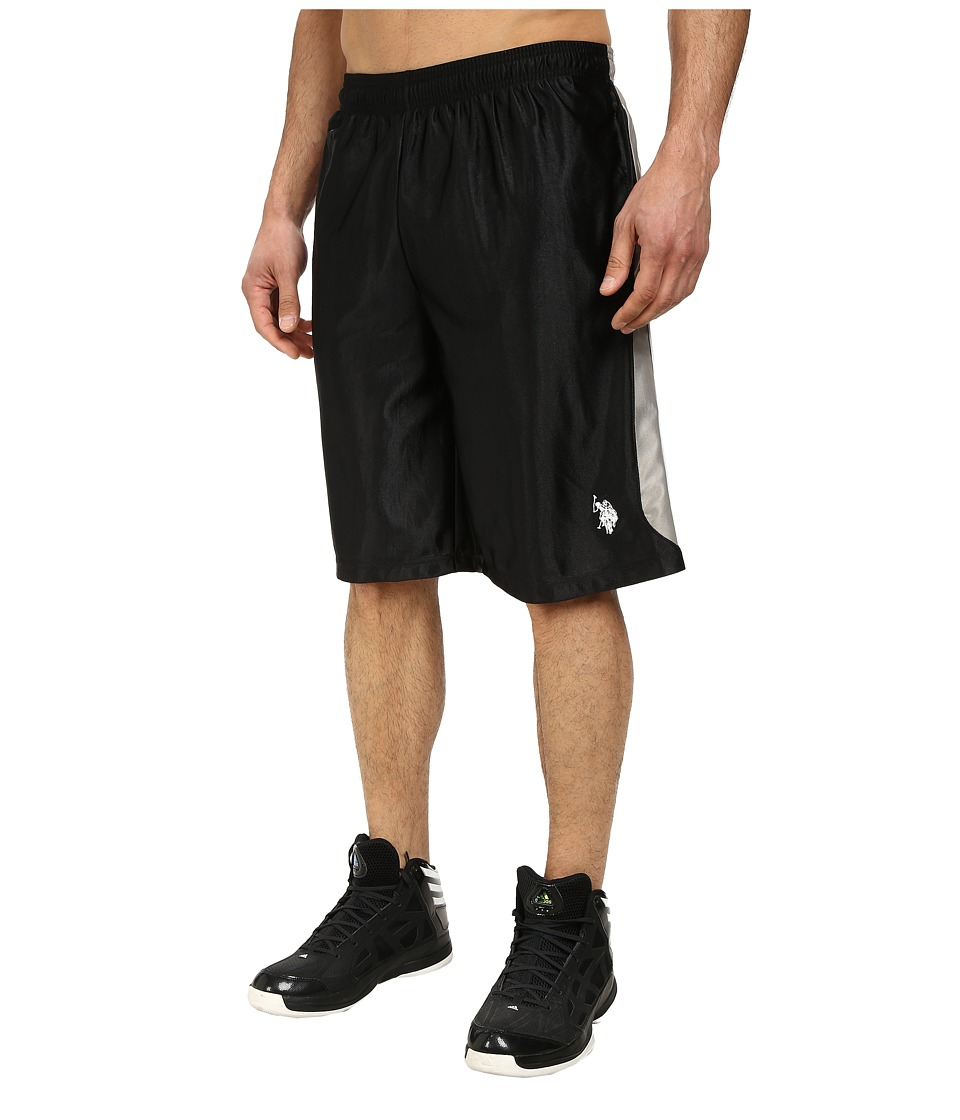 U.S. POLO ASSN. Color Block Dazzle Athletic Shorts (Black) Men