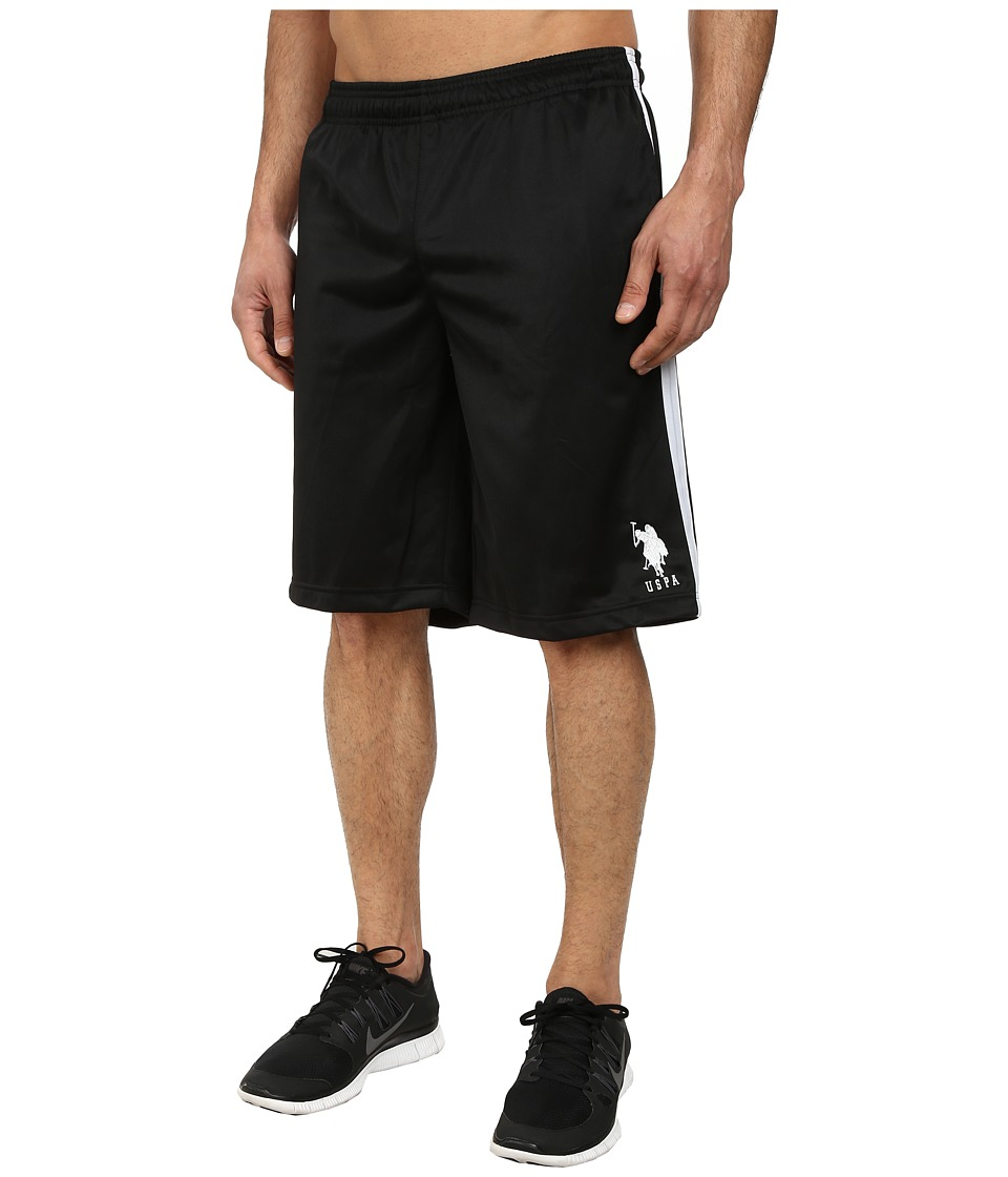 U.S. POLO ASSN. - Tricot Athletic Shorts (Black) Men's Shorts