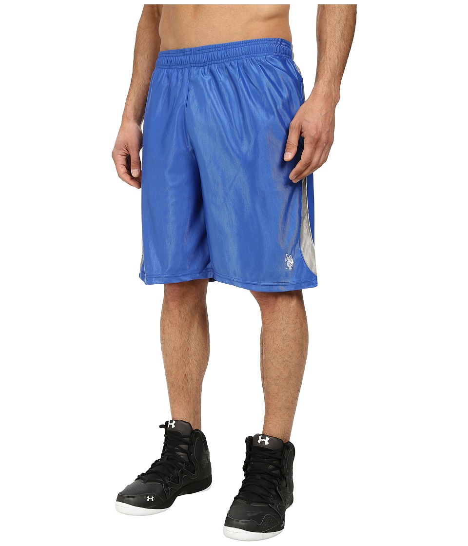 U.S. POLO ASSN. Color Block Dazzle Athletic Shorts (China Blue) Men