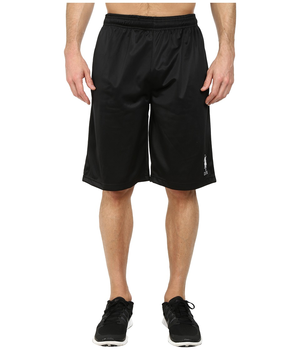 U.S. POLO ASSN. - Solid Tricot Athletic Shorts (Black) Men's Shorts