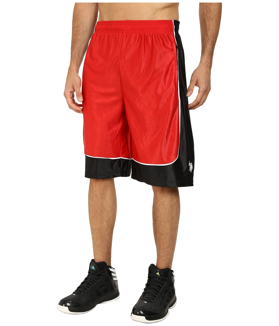 U.S. POLO ASSN. - Athletic Shorts with Dazzle Side Panel (Engine Red) Men's Shorts