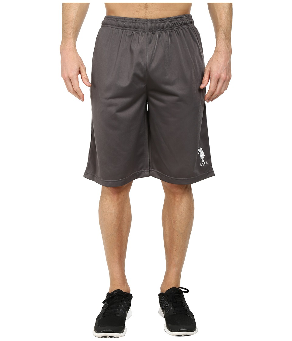 U.S. POLO ASSN. - Solid Tricot Athletic Shorts (Castlerock) Men's Shorts