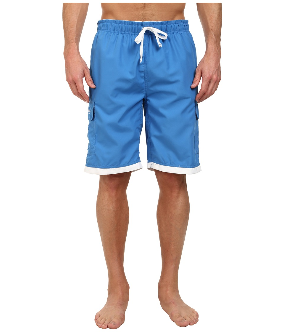 U.S. POLO ASSN. - 11 Double Side Stripe Cargo (Ocean Spray) Men's Swimwear