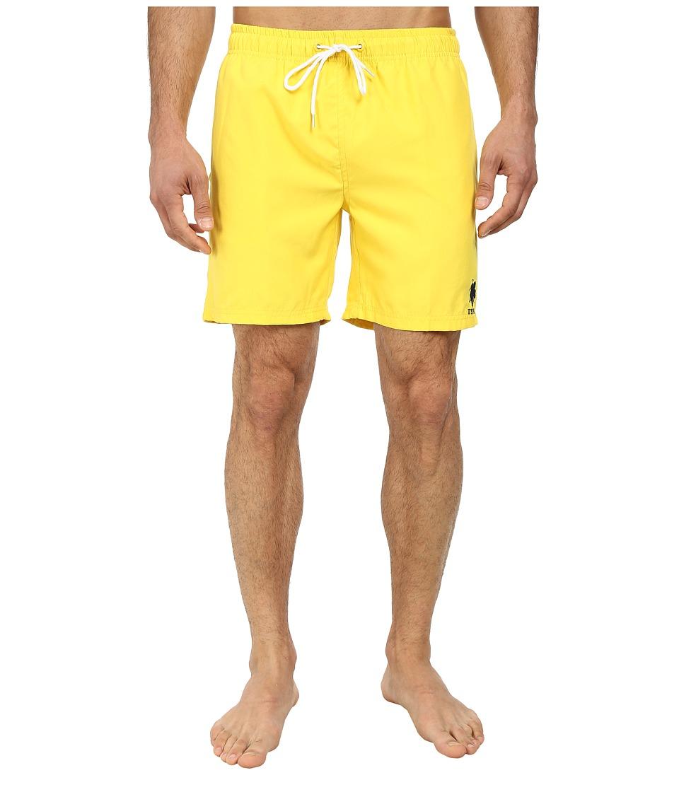 U.S. POLO ASSN. - 7 Classic Solid Small Pony (Sailing Yellow) Men's Swimwear