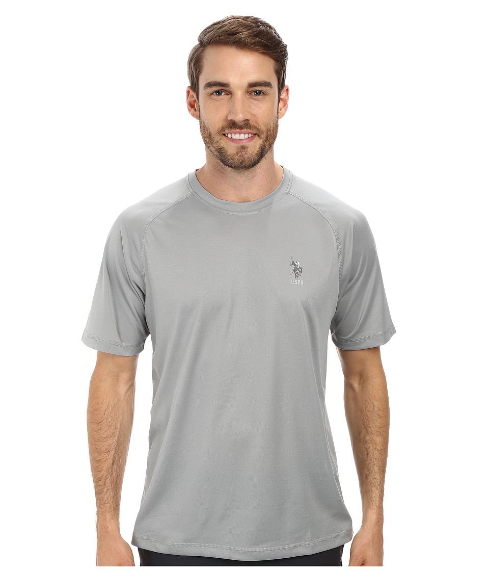 U.S. POLO ASSN. - Solid Rashguard UPF 50+ Swim T-Shirt (Limestone) Men's Short Sleeve Pullover