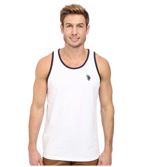 U.S. POLO ASSN. - Color Edged Tank Top (White) Men's Sleeveless