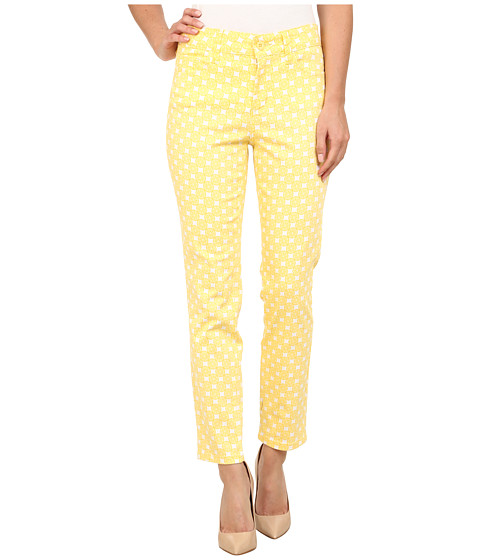 NYDJ - Clarissa Skinny Ankle in Lemon Print (Lemon Print) Women's Casual Pants