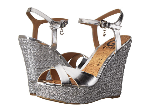 G by GUESS - Debbra 2 (Silver) Women's Wedge Shoes