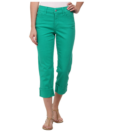 NYDJ - Dayla Wide Cuffed Capri (Malachite) Women