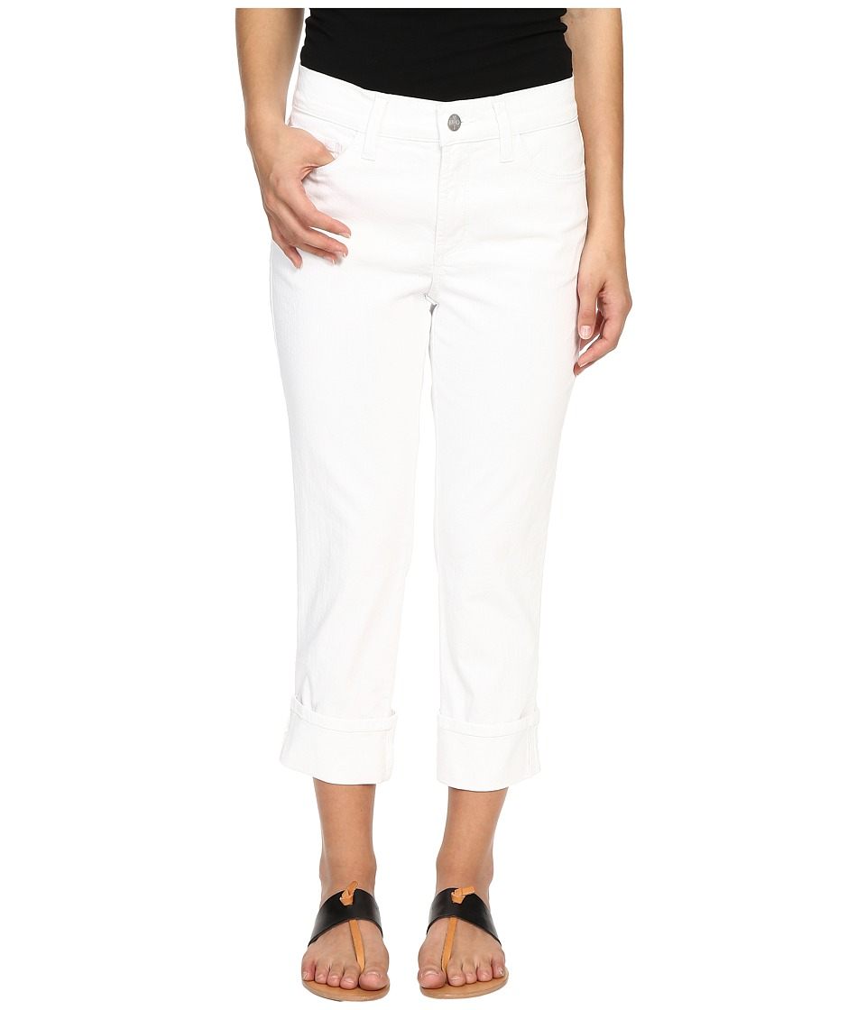 NYDJ Petite - Petite Dayla Wide Cuffed Capri (Optic White) Women's Jeans