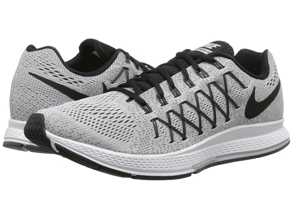 Nike - Air Zoom Pegasus 32 (Pure Platinum/Dark Grey/Black) Men