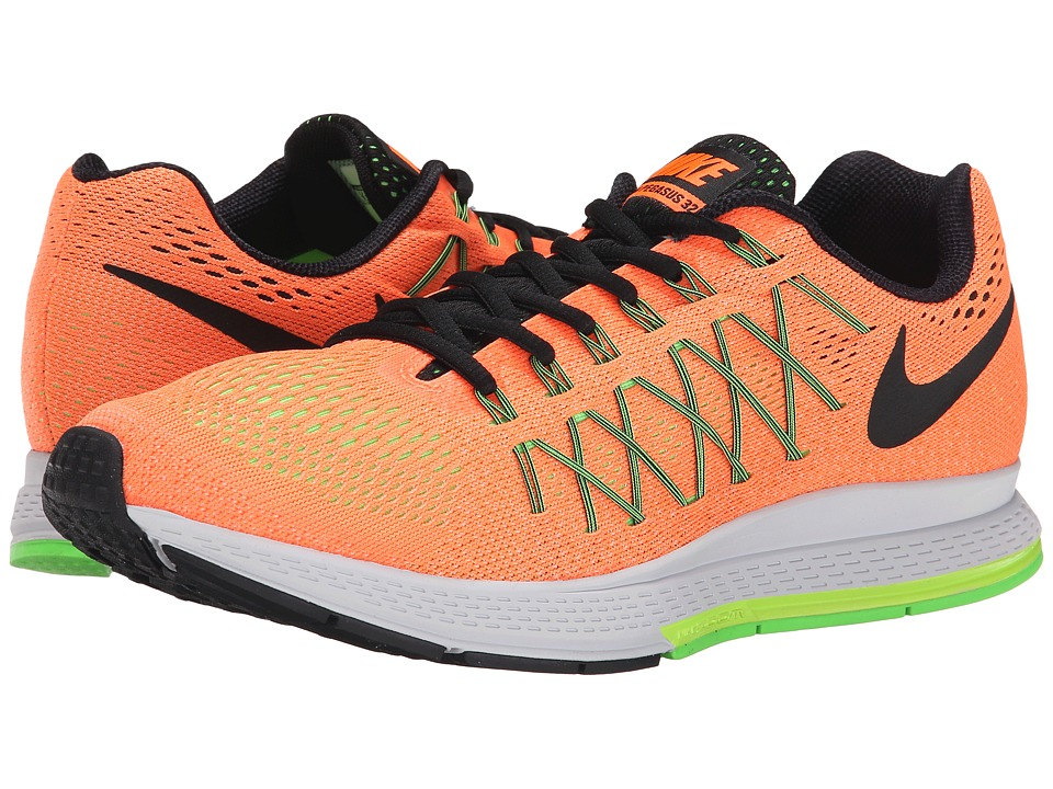 Nike - Air Zoom Pegasus 32 (Total Orange/Ghost Green/Voltage Green/Black) Men's Running Shoes