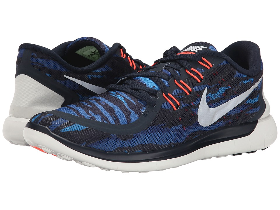 Nike - Free 5.0 Print (Dark Obsidian/Hot Lava/White) Men's Running Shoes