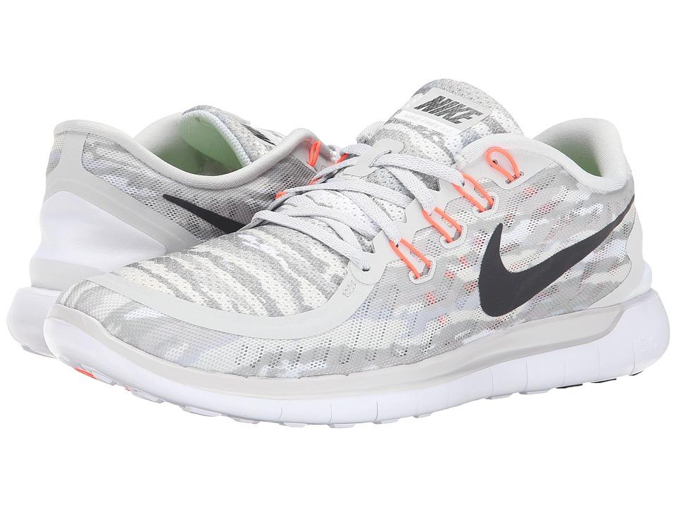 Nike - Free 5.0 Print (Pure Platinum/Hot Lava/Black) Men
