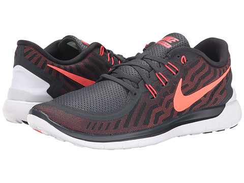 Nike - Free 5.0 (Anthracite/University Red/Hot Lava/Bright Crimson) Men's Running Shoes