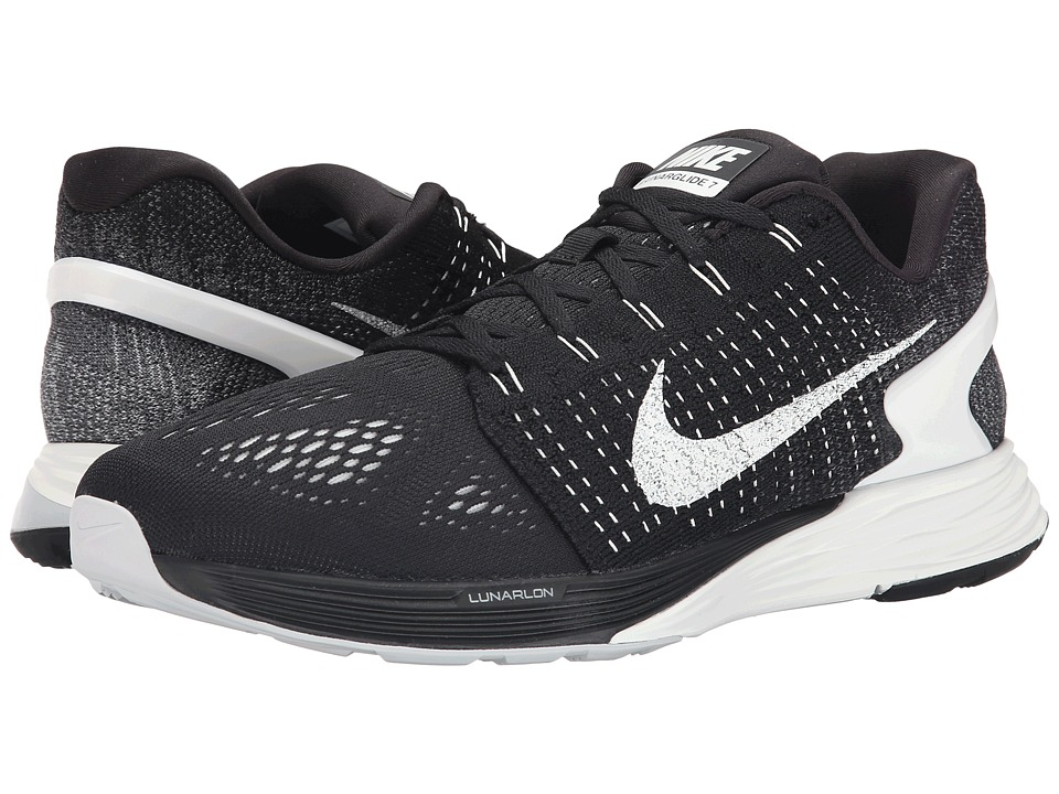 Nike - Lunarglide 7 (Black/Summit White/Anthracite) Men's Running Shoes