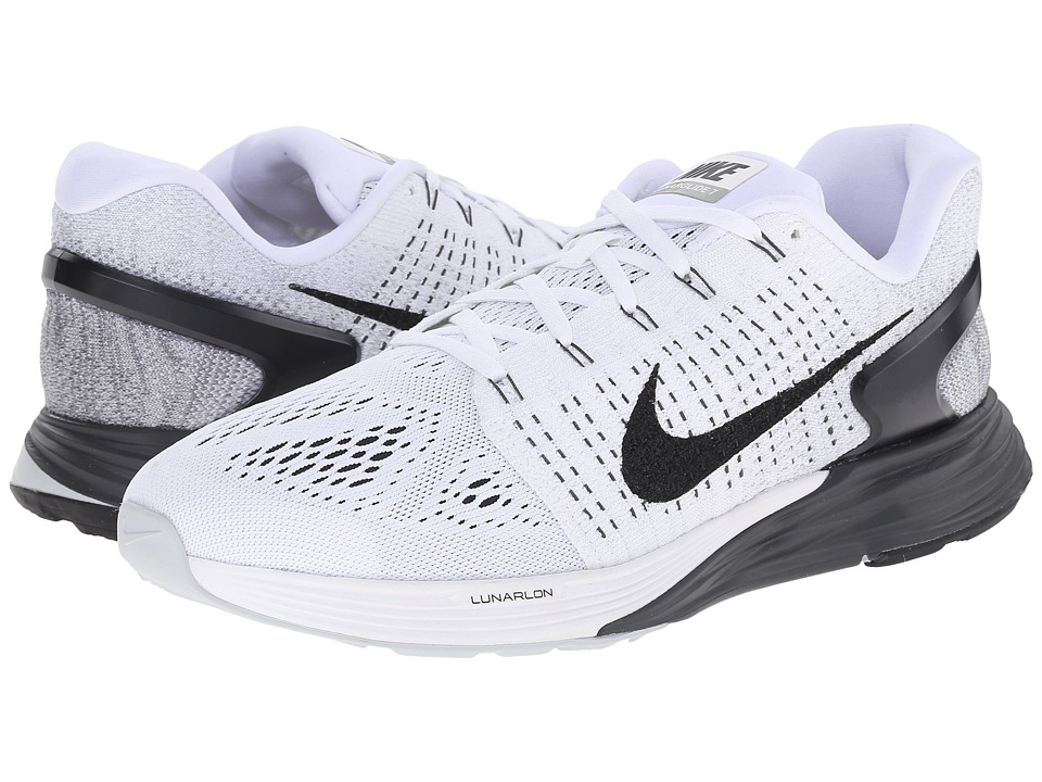 Nike - Lunarglide 7 (White/Black/Anthracite/Cool Grey) Men's Running Shoes