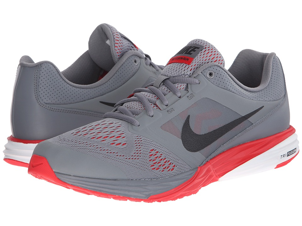 Nike - Tri Fusion Run (Cool Grey/University Red/White/Black) Men's Running Shoes