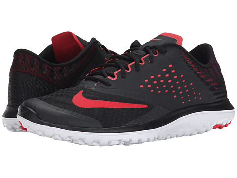 Nike - FS Lite Run 2 (Black/White/University Red) Men's Running Shoes