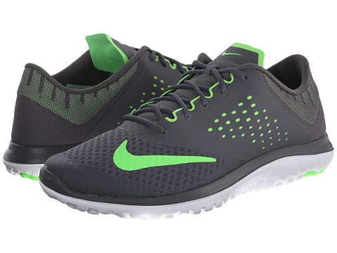Nike - FS Lite Run 2 (Dark Grey/White/Voltage Green) Men's Running Shoes