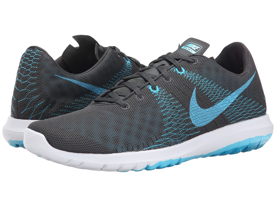 Nike - Flex Fury (Anthracite/Blue Lagoon/Dark Electric Blue/Clearwater) Men's Running Shoes