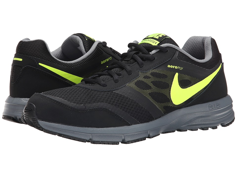 Nike - Air Relentless 4 (Black/Cool Grey/Volt) Men's Running Shoes