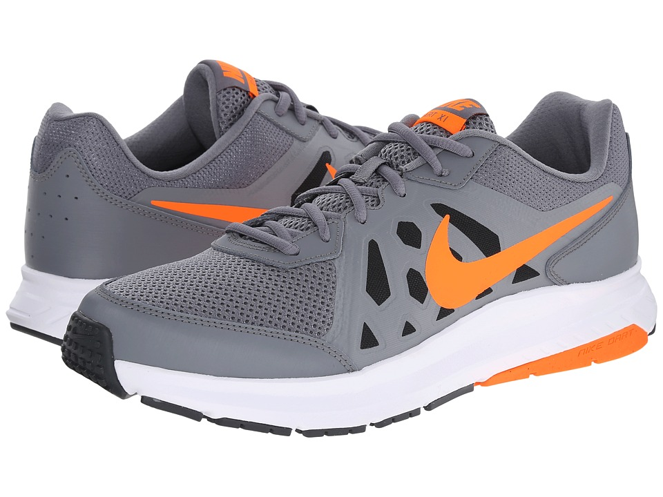 Nike - Dart 11 (Cool Grey/Dark Grey/White/Total Orange) Men's Running Shoes