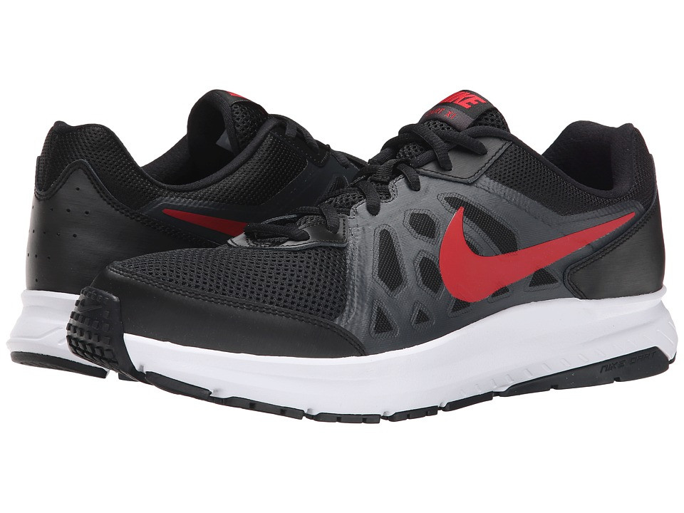 Nike - Dart 11 (Black/Anthracite/White/University Red) Men's Running Shoes