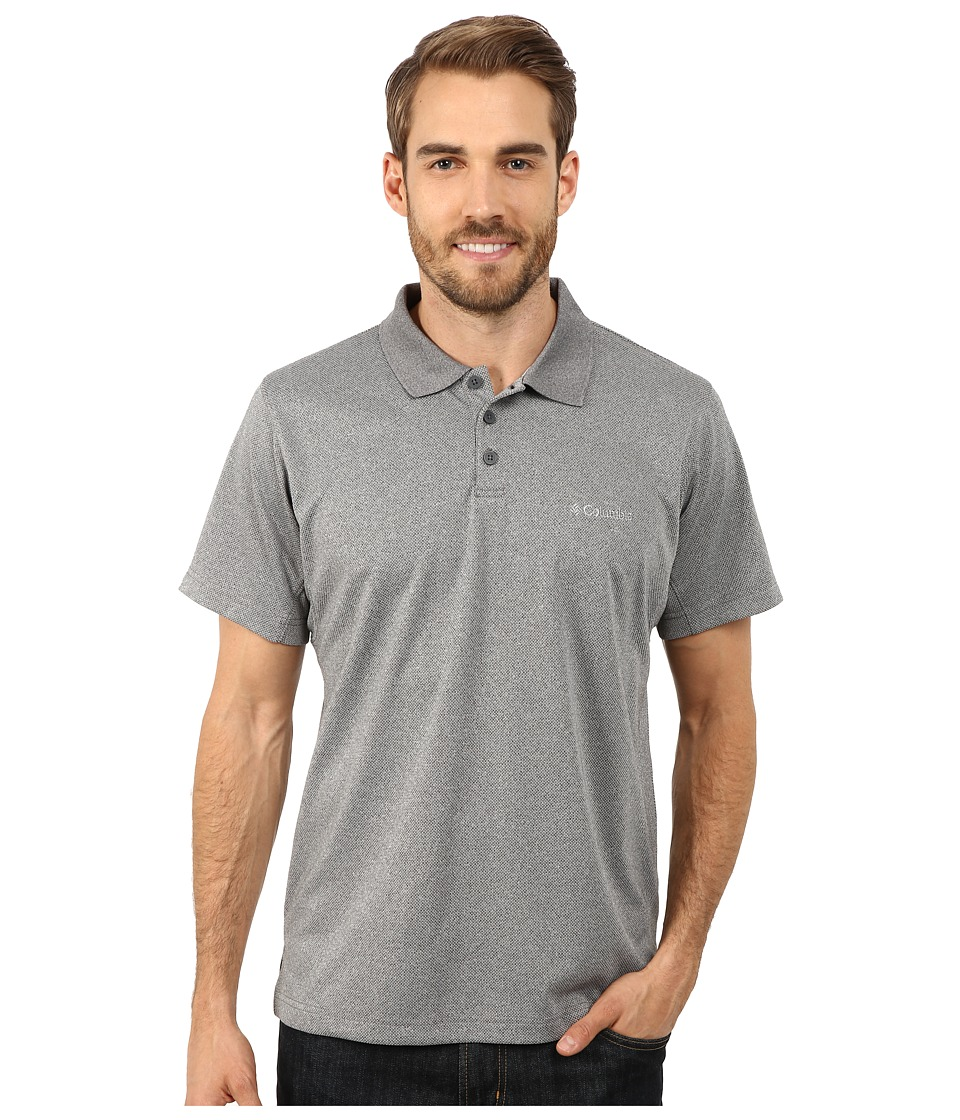 Columbia - New Utilizer Polo (Graphite Heather) Men's Short Sleeve Pullover