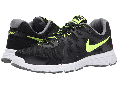 Nike - Revolution 2 (Black/Cool Grey/Volt) Men's Running Shoes