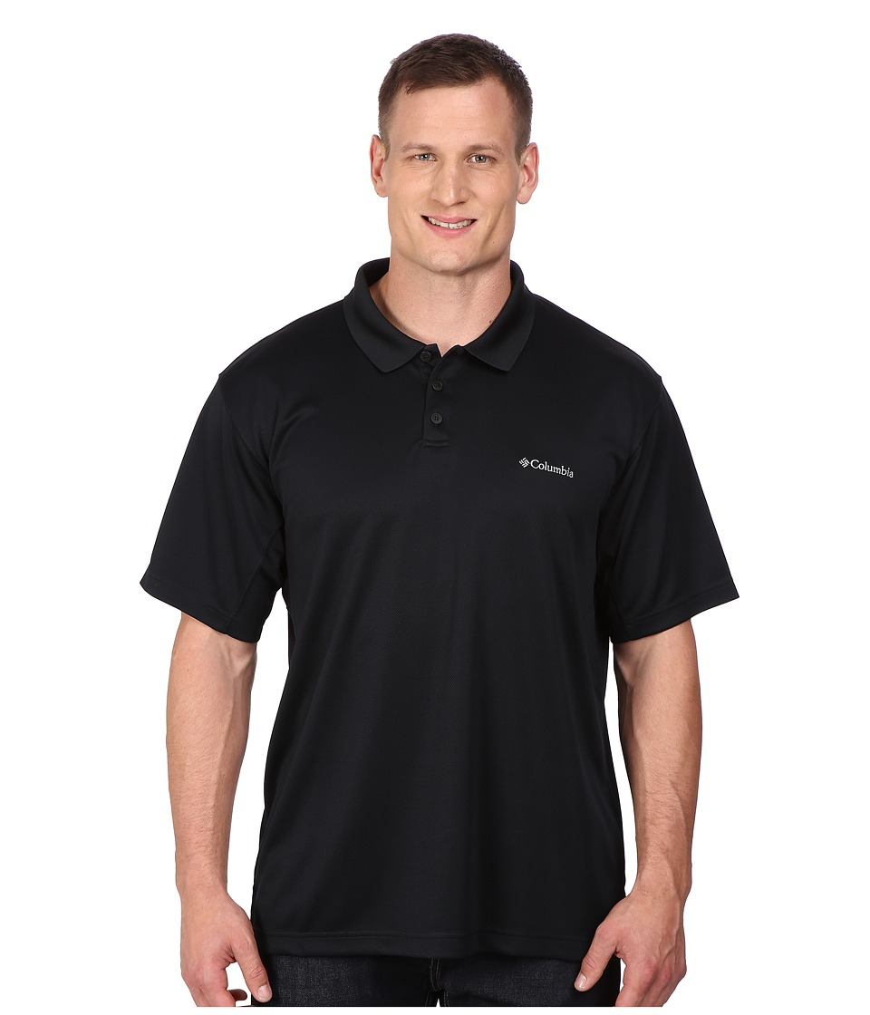Columbia - Big Tall New Utilizer Polo (Black) Men's Short Sleeve Pullover