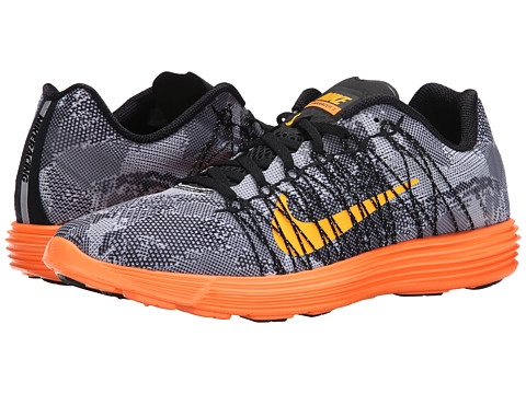 Nike - Lunaracer+ 3 (Black/Total Orange/White/Laser Orange) Men's Running Shoes